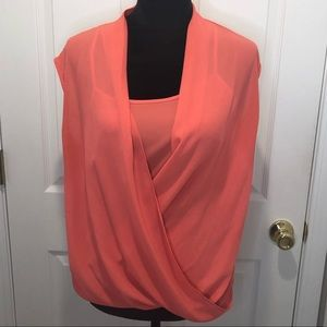 Mossimo sleeveless blouse with tank size small